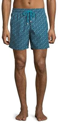 Vilebrequin Men's Moorea Micro Ronde des Tortues Turtles Swim Trunks