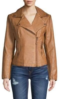 Max Studio Classic Faux Leather Jacket