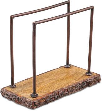 Thirstystone Bark-Edged Wood & Iron Napkin Holder