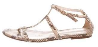 Loro Piana Multistrap Snakeskin Sandals