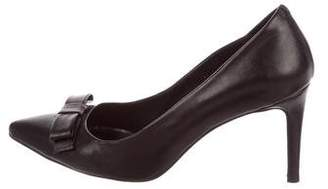 Anine Bing Leather Bow Pumps