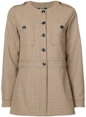 A.P.C. fitted check jacket