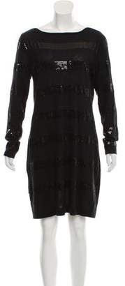 Magaschoni Knit Mini Sweater Dress