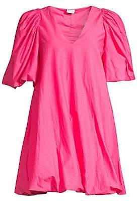 Rhode Resort Women's Marni Puff-Sleeve Cotton Dress