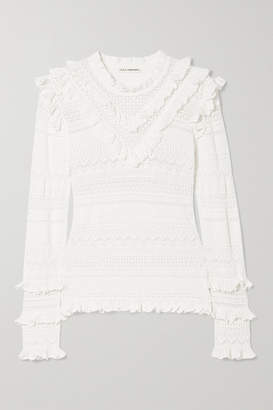 Ulla Johnson Austen Crochet-knit Cotton-blend Sweater - White