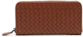 Bottega Veneta Intrecciato Continental Leather Wallet - Womens - Tan