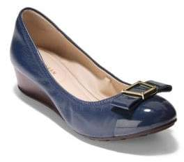 Cole Haan Emory Bow Leather Wedge Pumps