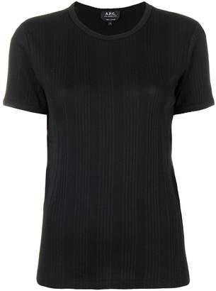 A.P.C. textured stripe T-shirt