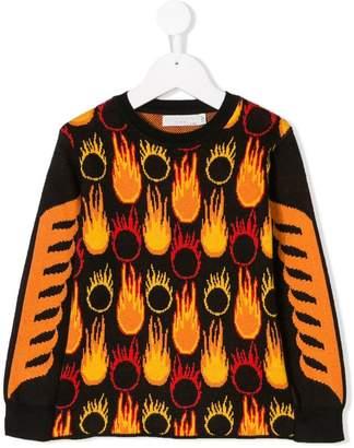 Stella McCartney flame knit sweater