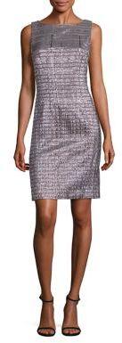 Carmen Marc Valvo Metallic Sheath Dress $795 thestylecure.com