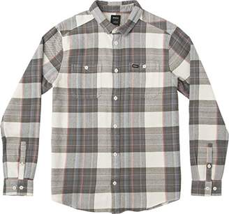 RVCA Men's Ludlow Flannel Long Sleeve Woven Button UP Shirt
