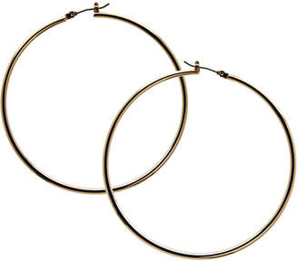 GUESS Earrings, Gold-Tone Large Polished Hoop