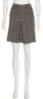 Joseph Virgin Wool Plaid Mini Skirt