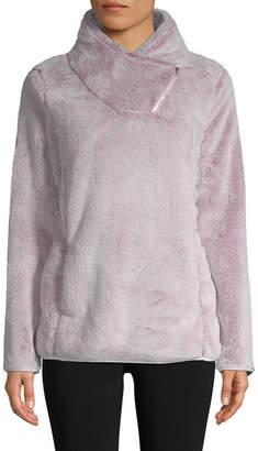 ST. JOHN'S BAY SJB ACTIVE Active Asymmetrical Zip Plush Pullover