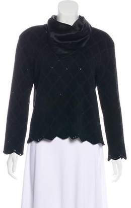 St. John Embellished Argyle Sweater
