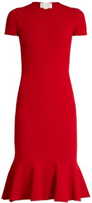 Esteban Cortazar Cut-out back crepe-jersey dress