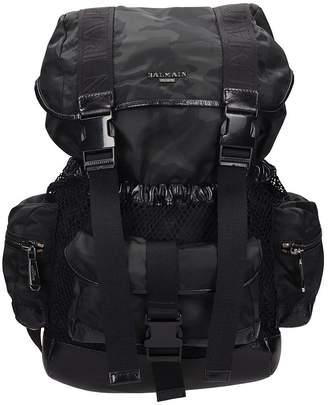 Balmain Elite Black Camouflage Nylon Backpack