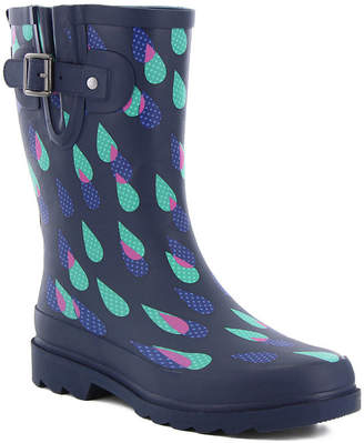 bf09d8c46191c Western Chief Womens Dotty Downpour Waterproof Flat Heel Pull-on Mid Rain  Boots