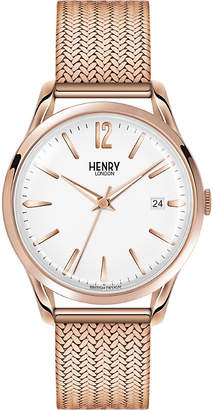 Richmond Henry London HL39-M-0026 stainless steel rose gold mesh watch