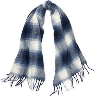 37e12d1a55732 ... Ralph Lauren Plaid Wool Blanket Scarf
