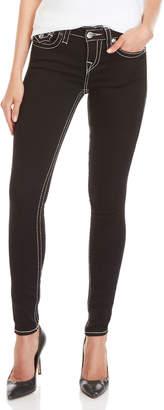 True Religion Black Super Skinny Flap Pocket Jeans