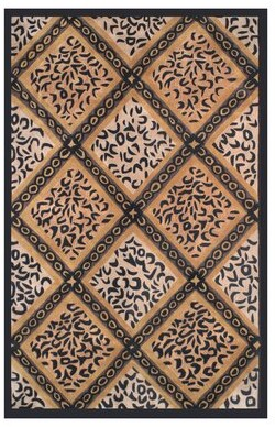 American Home Rug Co. African Safari Skins/Black Imperial Safari Animal Area Rug American Home Rug Co.