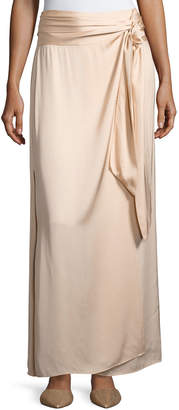 Elizabeth and James Almeria Wrap-Tie Maxi Skirt W/ Slit, Blush