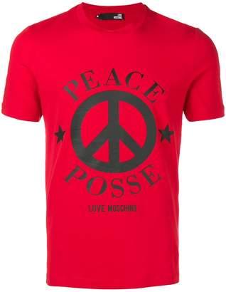 Love Moschino Peace T-shirt