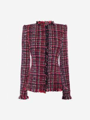 Alexander McQueen Artisan Tweed Fitted Jacket