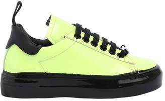 Neon Patent Leather Sneakers