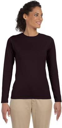 Gildan 4.5 oz. SoftStyle Junior Fit Long-Sleeve T-Shirt G644L -Dark Chocola 3XL