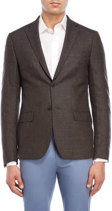 Calvin Klein Slim Fit Honeycomb Wool Sport Coat