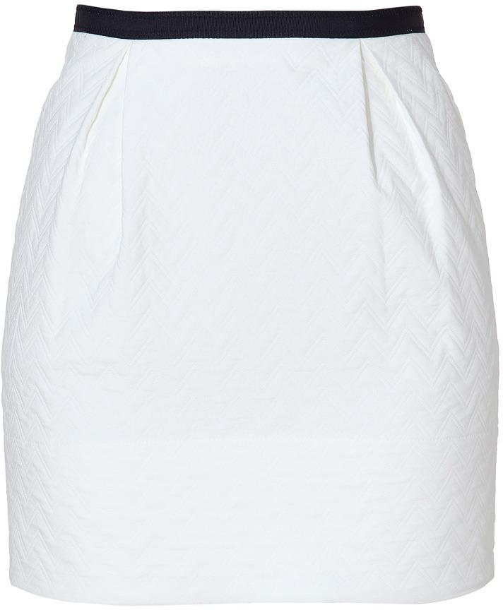 Sandro Ecru Front Pleated Skirt