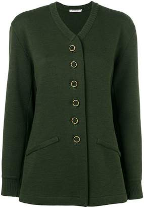 Saint Laurent PRE-OWNED knitted buttoned cardigan