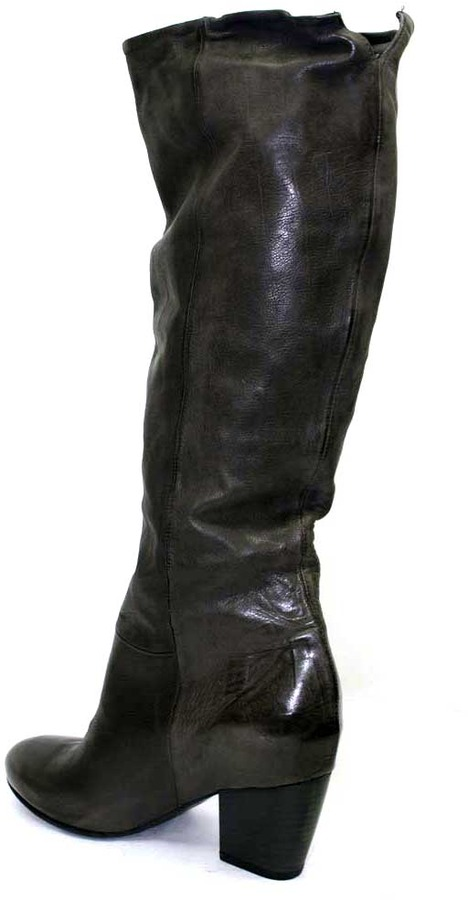 """Vic Matié 1H7101D"""" Smog (Grey) Leather Pull On Boot"""