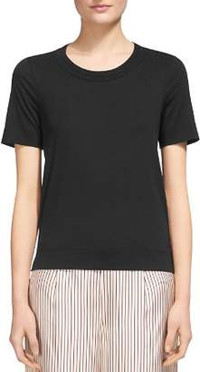 Whistles Rosa Double-Trimmed Tee