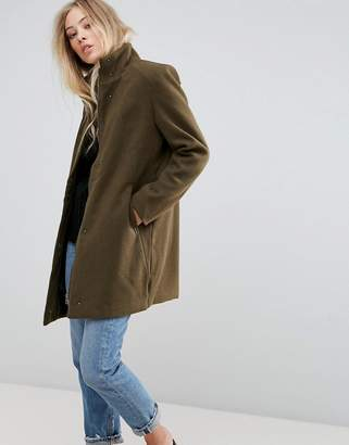 B.young Funnel Neck Coat