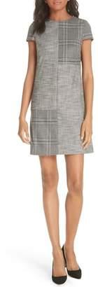 Alice + Olivia Coley Mix Plaid Sheath Dress