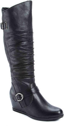 Bare Traps Tender Wide Calf Wedge Boot - Women's
