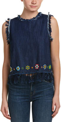 Love Sam Denim Fringe Vest