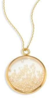 Aurelie Bidermann Fine Pearl& 18K Yellow Gold Medallion