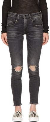 R 13 Black Boy Skinny Jeans