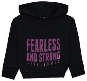 George Black Sporty Girl Power Slogan Hoodie