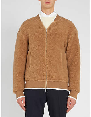 Thom Browne Contrast-trim camel and silk jacket