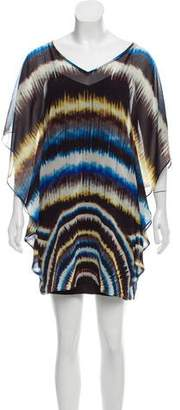 Trina Turk Poncho Mini Dress