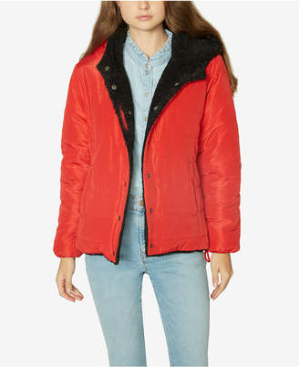 Sanctuary Fast Pass Reversible Faux-Fur Puffer Jacket