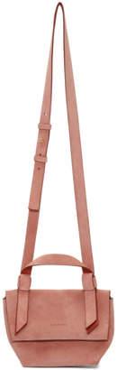 Acne Studios Pink Suede Musubi Milli Bag