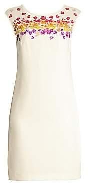 Trina Turk Women's Shangri-La Prismatic Floral Sheath Dress