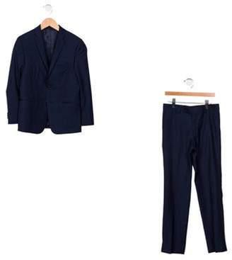 Michael Kors Boys' Wool Tweed Pantsuit wool Boys' Wool Tweed Pantsuit