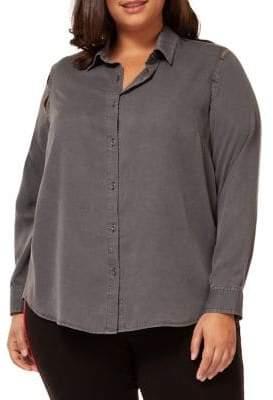 Dex Plus Long Sleeve Cut-Out Shirt